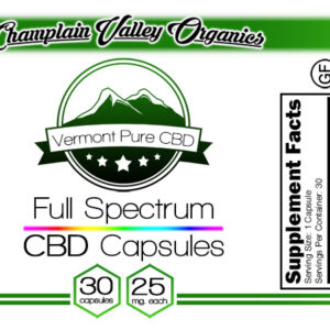 Full Spectrum CBD Capsules – 25 mg. – Subscription