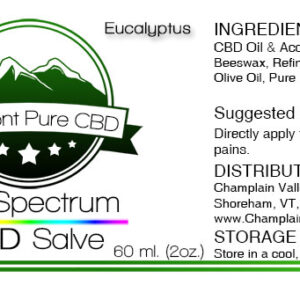 Full Spectrum CBD Topical Salve/Balm – 500mg.
