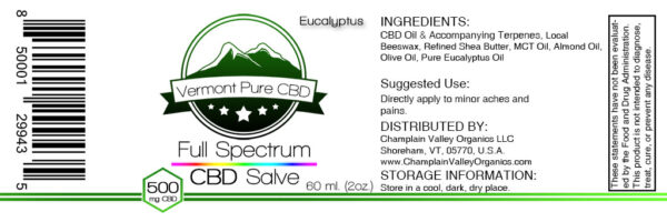 CBD Salve Balm label