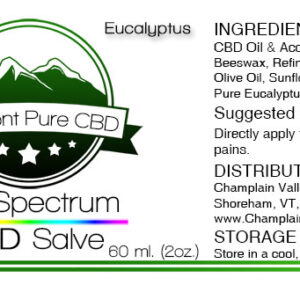 Full Spectrum CBD (500 mg) Salve – With Arnica (1000 mg)