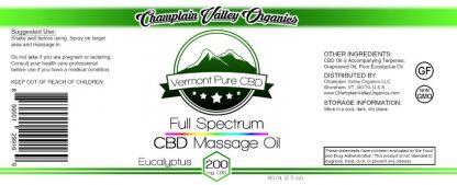 Full Spectrum CBD Massage Oil label
