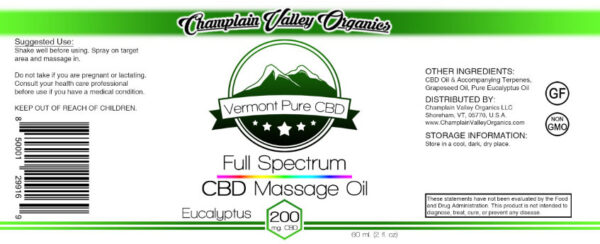 Full Spectrum CBD Massage Oil label