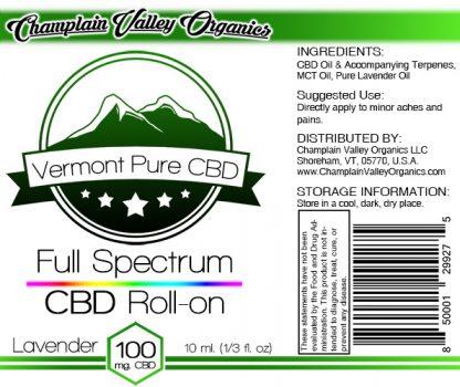 Full Spectrum CBD Oil Roll On label lavender