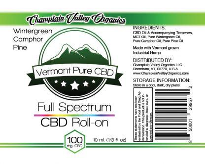 Full Spectrum CBD Oil Roll On label