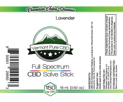 Full Spectrum CBD Salve/Balm Stick 150mg label