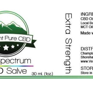 EXTRA STRENGTH – Full Spectrum CBD Topical Salve/Balm – 500mg.