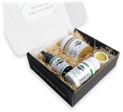 CBD Gift Box Open